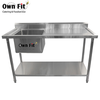 Pressing table top stainless steel restaurant kitchen utility table
