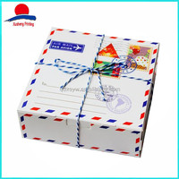 2016 New Envelope Design Packing Boxes Cake Packing With String