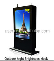 46 inch floor standing Outdoor Advertising Player/lcd digital signage with high brightness 2000cd/m2