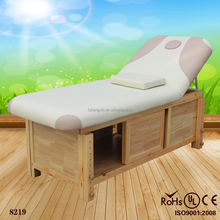 2016 wood base frame heated electric massage table 8219