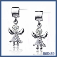 Factory price small moq lot earrings cheap earrings woman 2015 Chile silver hanging earrings with stone