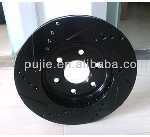 Car black brake disc rotor