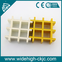 38*38*38mm anti slip gritted top molded GRP plastic grating panel