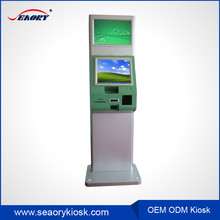Vending touch screen machines with receipt printer / cell phone charging machines information kiosk price