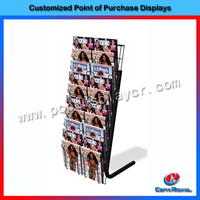 POP top selling metal magazine display stand with cheap price