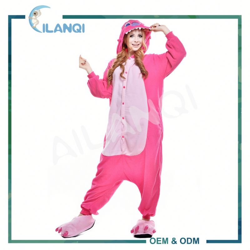 ALQ-A020 Unisex stitch cartoon costume women wholesale winter onesie