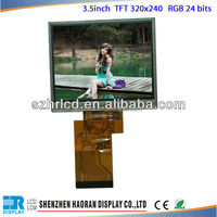 "3.5"" tft LCD panel 3.5inch tft QVGA with Resolution 320xRGBx240 TFT lcd display module with Resistive touch panel"