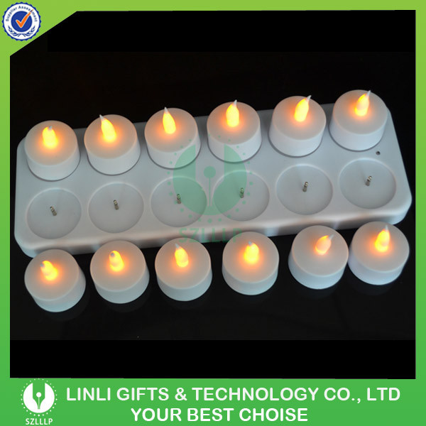 Custom Decoration Rechargeable Flameless Christmas LED Candle Light, Top Selling High Quality Christmas LED Candle Light