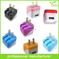 2015 new products mini colorful universal charger adapter for usb cable charging iphone mobile phone