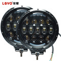 "LOYO factory car accessories 5500lm 7"" 105W round led auto work lights offroad lights"