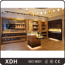 Modern design beauty wooden wine display cabinet for shop
