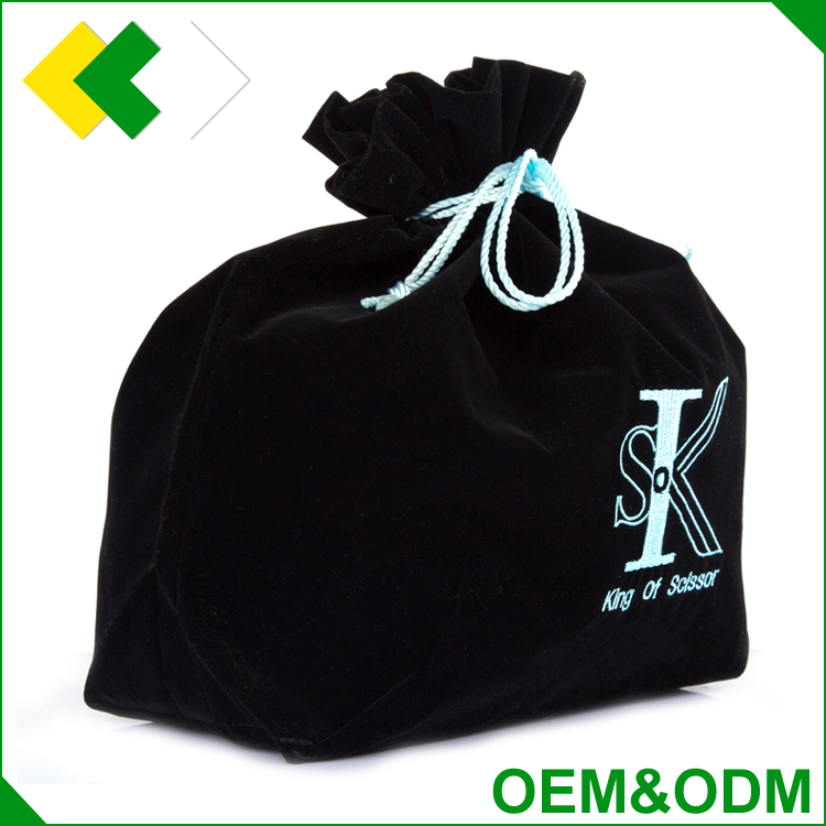 OEM&ODM luxurious jewelry drawstring gift bag packaging cloth cotton flannel christmas gift bag