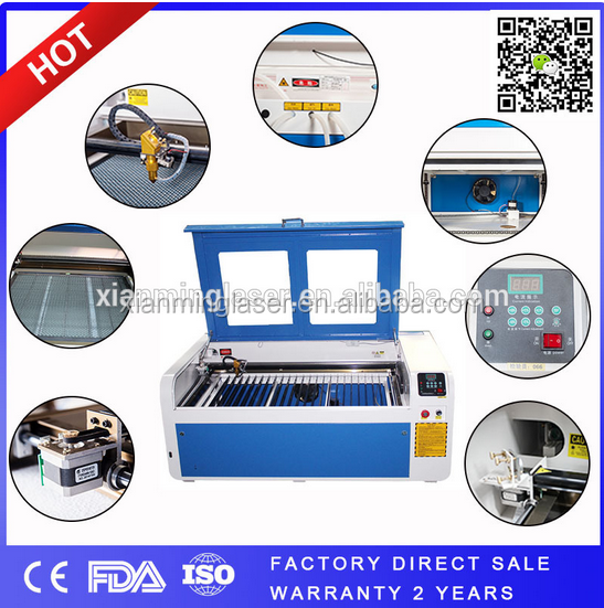 China supplier Glass laser engraver cutting machine /80W laser tube +1200*600mm work table