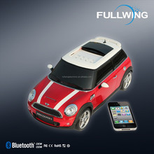 portable car audio speaker,mini cooper shape speaker , loudspeaker with fm radio&bluetooth