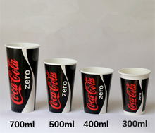 500ml Customize Logo Printed Double PE film of cold drink paper cup