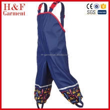 Cheap infant bib pants rainwear for outdoor kids coverall