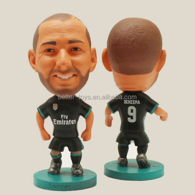 """Custom 3d Soccer Player Action Figure/OEM MIniature Plastic Soccer Statues/ Plastic Toy Football Player,"