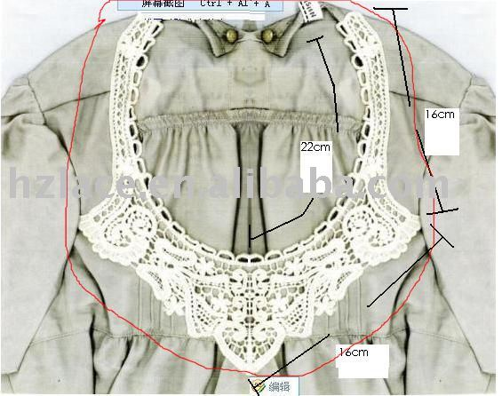 Hand crochet collar lace