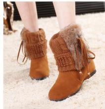 Autumn/winter collection European and fluffy line america low canister boots female warm boot
