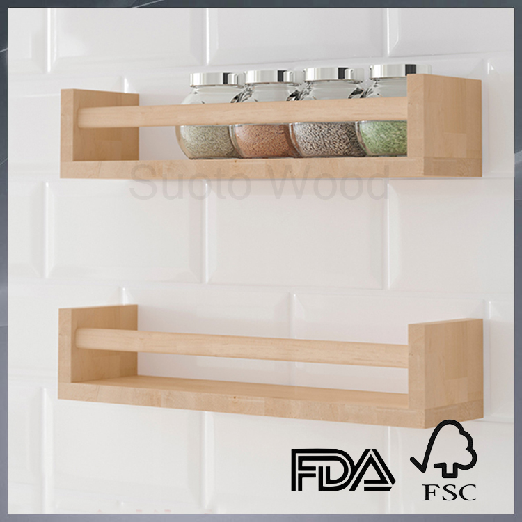 Wooden wall mounted rack wall mounted shelf storage wall rack