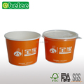 390ml paper soup bowl with plastic lid