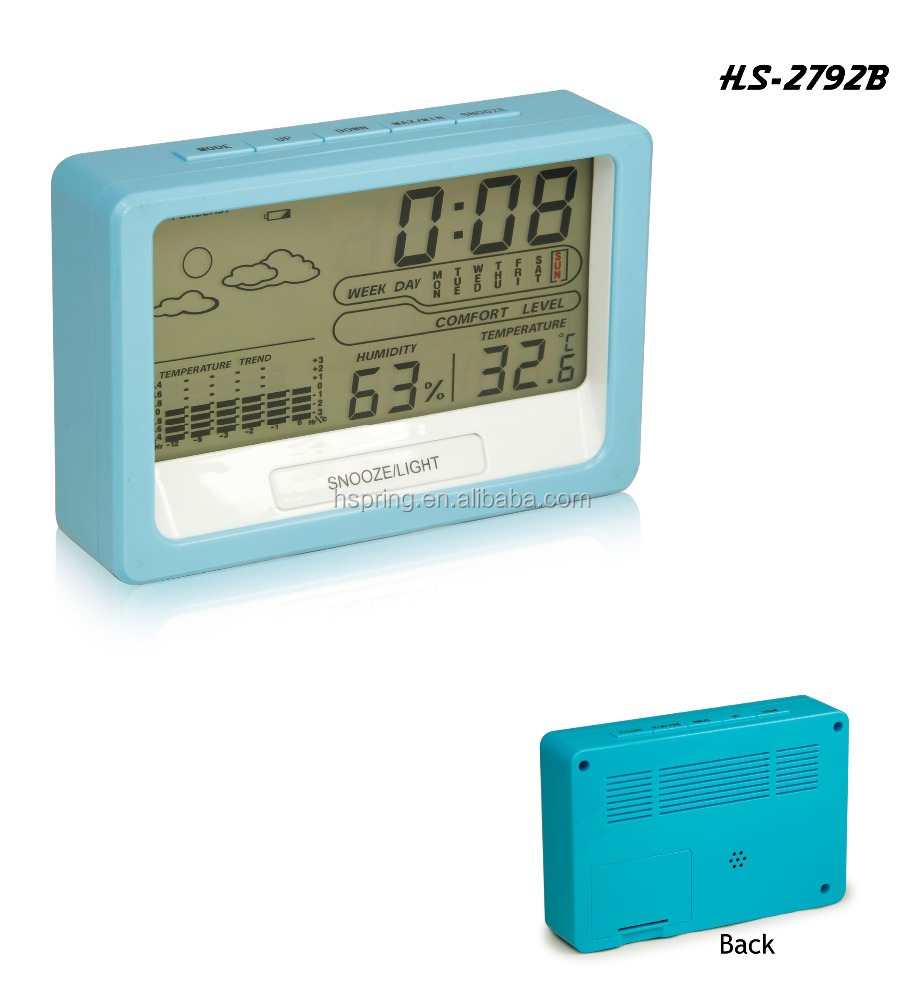 best price digital weather station table clock