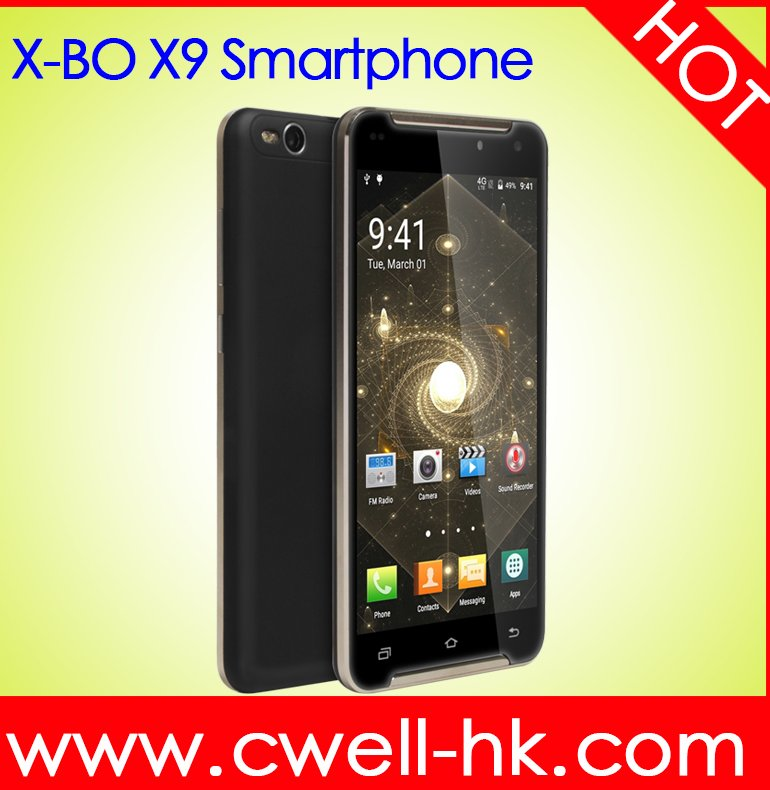 "Hotsale Quad Core 5.5"" Inch IPS Screen X-BO X9 Dual SIM 512MB RAM 8GB ROM Android 3G Low price OEM Smartphone"