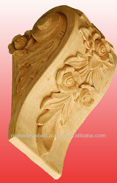 Economical Price Wooden Hand Carving Corbel Design