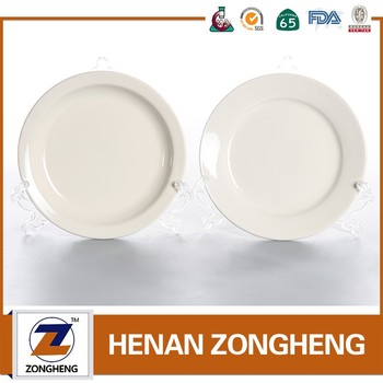 Wholesale cheap plain white ceramic plate
