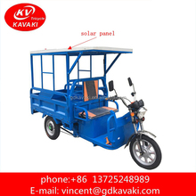 Motorized Type Cargo Use New Battery Operated Rickshaw Tricycle / Electric Tricycl With Solar Roof