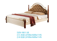 2016 New Design models solid wood bed room furniture