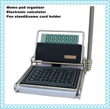Multifunctional desktop solar power electronic calculator with 8 digits