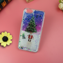 Custom Made Moving Glitter liquid phone case with inside 3d lenticular picture for iphone5/6/6+,for samsung note edge