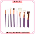 2017 Private label hair brush best selling product 8pcs cosmetics makeup brush set