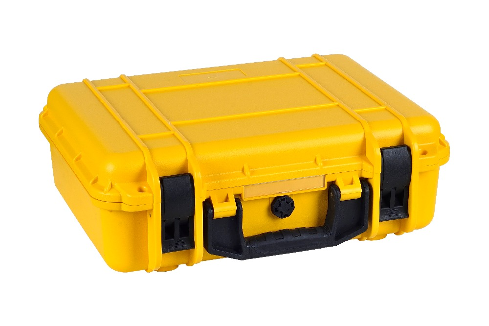 Yellow color engineering PP protective case for tools containing