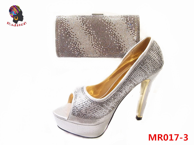 Gzmadison Crystal Bridal Shoes Evening Dress Shoes Party Prom Rough <strong>Heels</strong> Matching Clutch Bag Ladies Wedding/MR017-3