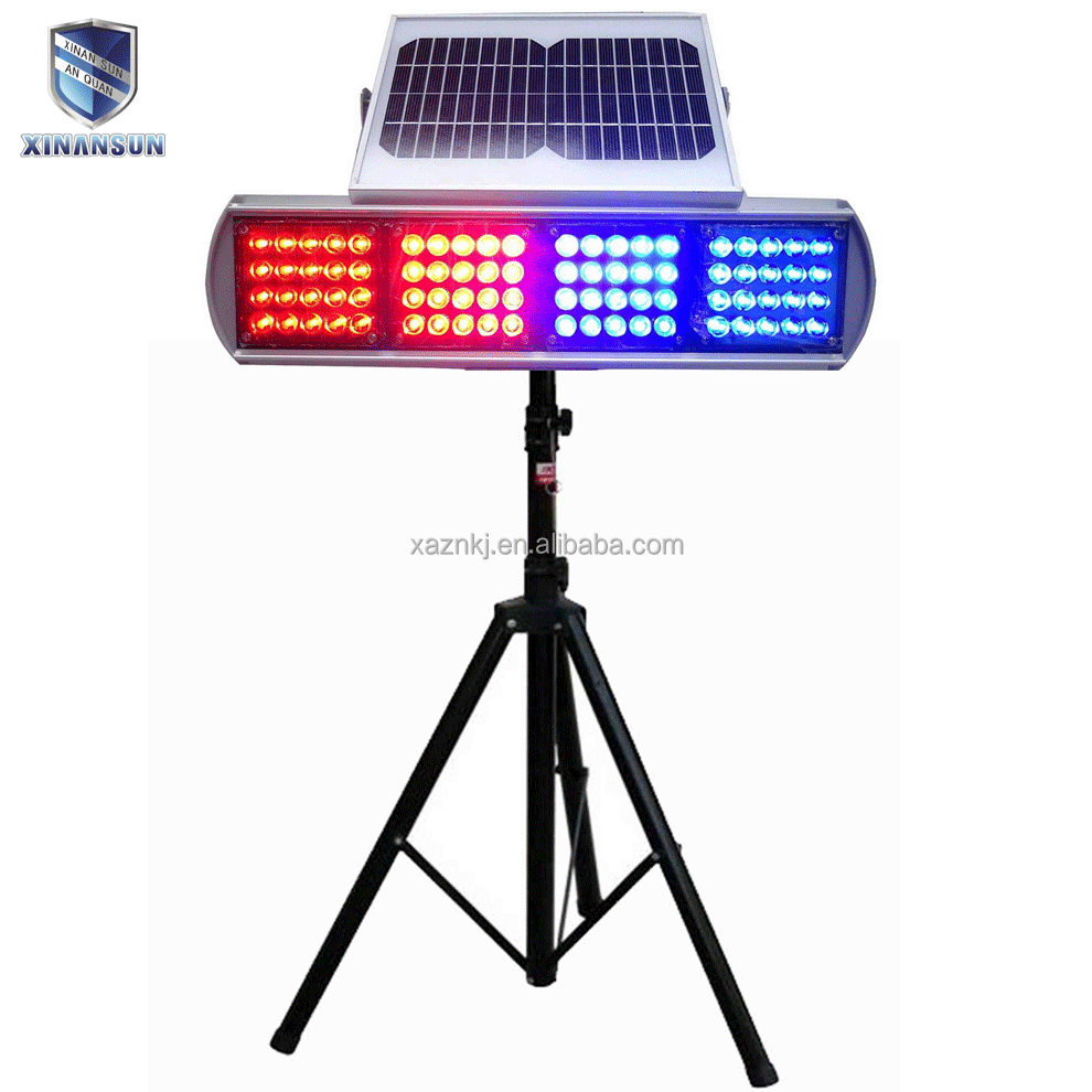 Portable flashing warning lamp Solar double-sides flashing light