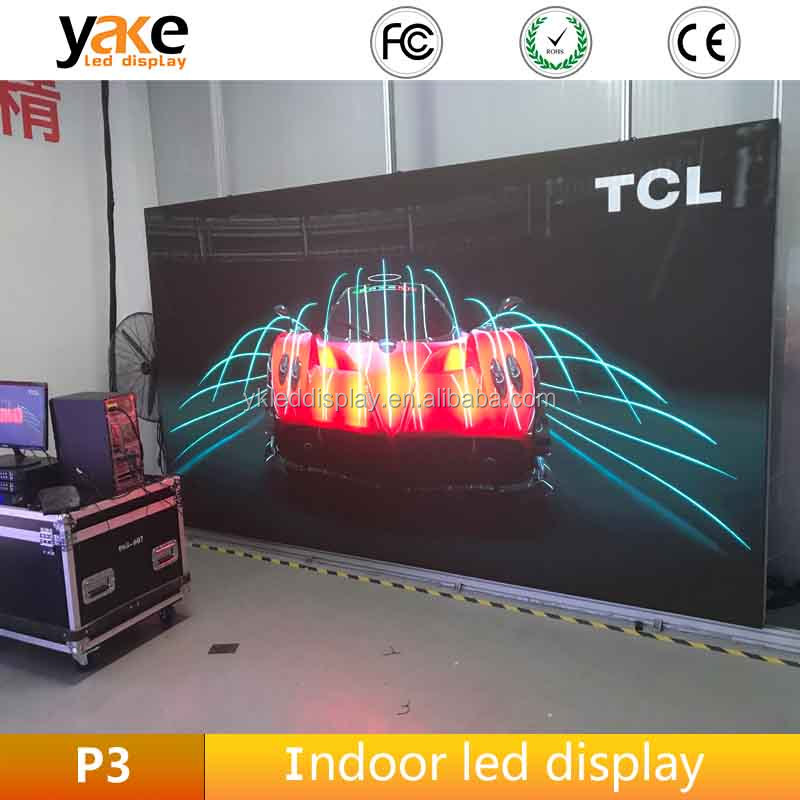 Pixel Pitch 3mm Interior Led Display For P3 indoor led video wall Live Broadcast Night Club