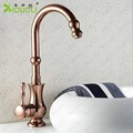 Antique Brass Kitchen Sink Bathroom basin Faucet mixer tap, Copper Single Hole Kitchen Sink