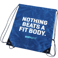 Factory Reusable Sports polyester drawstring bag