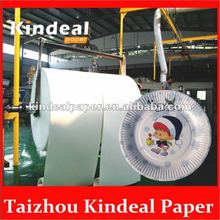 pe coated paper raw materials of paper plate