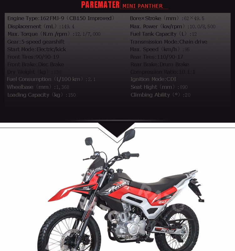 RATO New designed dirt bike motorcycle 150cc 200cc 250cc
