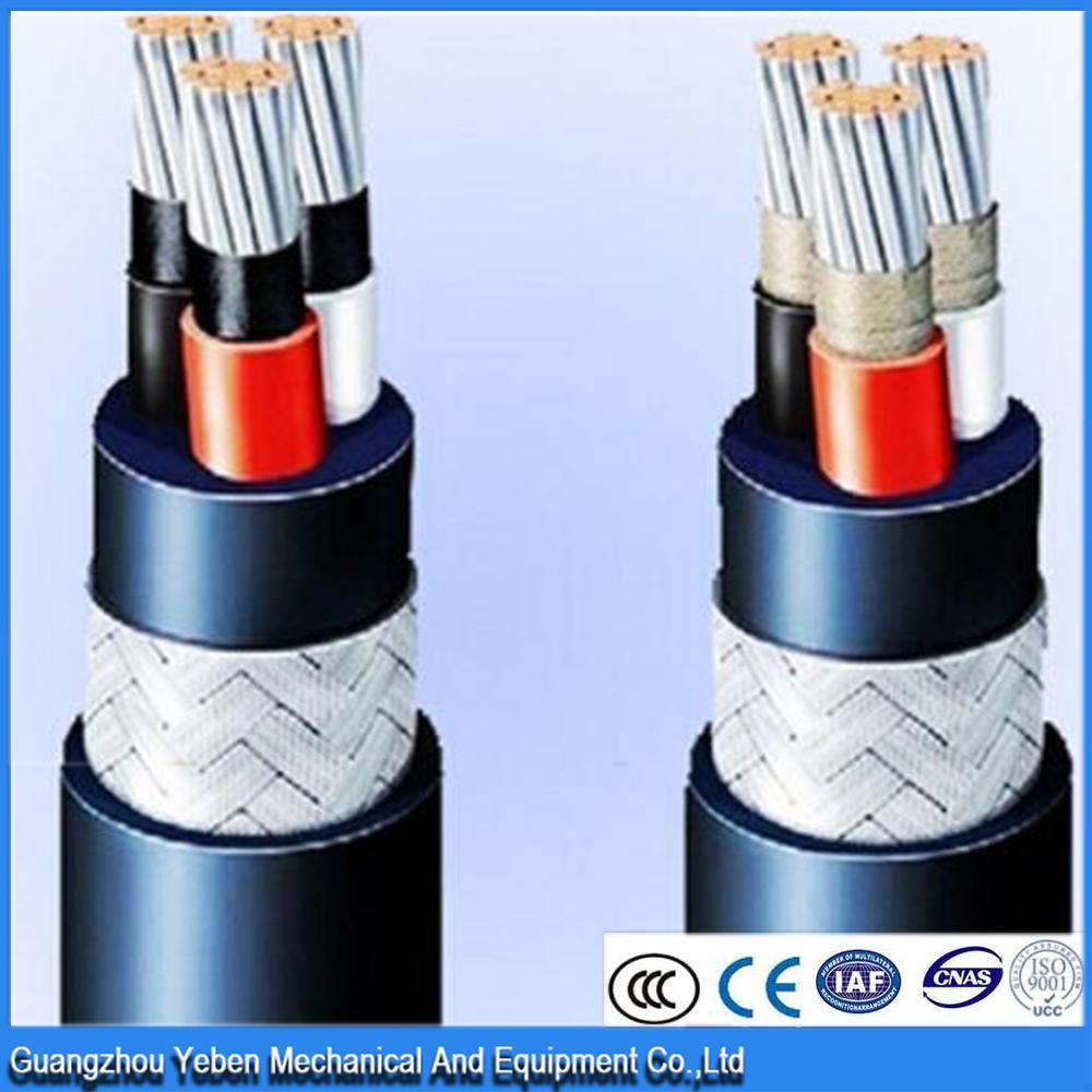0.6/1kv 3 core low high voltage copper shielded marine cable with inner sheath with respective