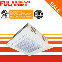 Free shipping in USA DLC UL gas staion led canopy light Replaces 250 Watt MH / HPS Lamps