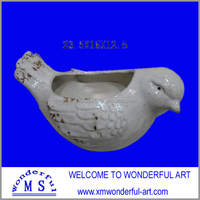 2014 new lifesome and vivid bird shaped flower pot