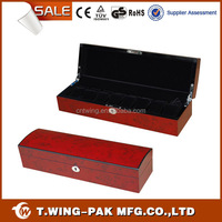 Up-market handmade wooden MDF men watch box in two tone color