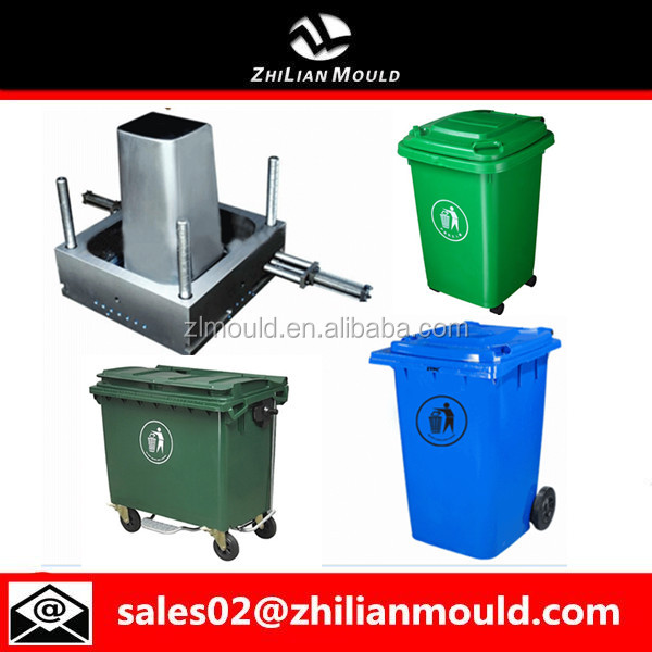 Small Size/Big Size Plastic Industrial Dustbin Injection Mold in China