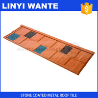 China stone coated roof tile light weight spanish coated metal roof tile