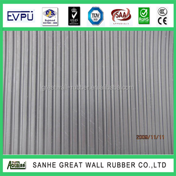 Great Wall Rubber Wide Ribbed Rubber sheet Anti slip Mat 3mm x 0.8m x 10m length A Grade