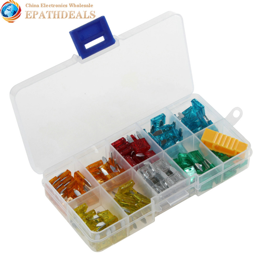 120pcs Automotive Fuses Auto Car MINI Blade Fuse Assortment 5A / 10A / 15A / 20A / 25A / 30A + Box